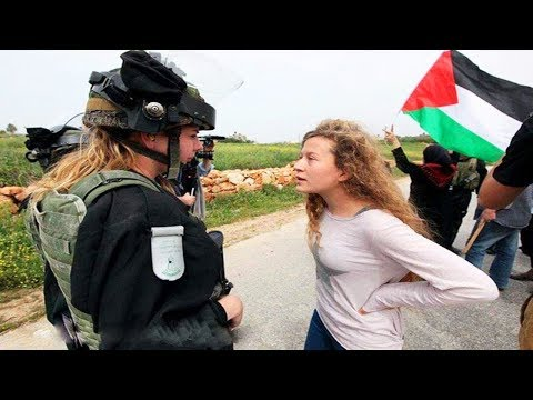 Brave Palestine Girl Ahed Tamimi Caught After Hitting An Israel Soldier