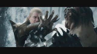 Леголас сражается с Болгом и спасает Торина. Азог сражается с Торином. Смерть Болга. HD