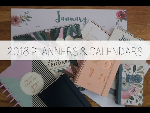 2018 Planners + Calendars