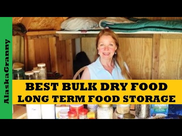 Best Bulk Dry Foods Long Term Food Storage - Longest Lasting Foods To Stockpile