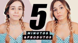 MAKE NATURAL COM 5 PRODUTOS EM 5 MINUTOS! - Regresso às Aulas   Inês Rochinha