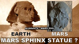 MARS SPHINX STATUE ? Ancient Alien Artefacts.  ArtAlienTV