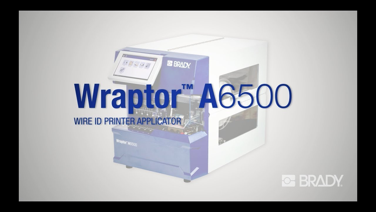 Brady\'s Wraptor A6500 Wire ID Printer Applicator Overview