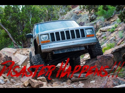 XJ on 33s NO LIFT! Takes on Liberty! - (GOES WRONG)