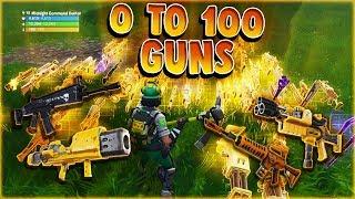 0 To 100 Gun Challenge Fortnite STW