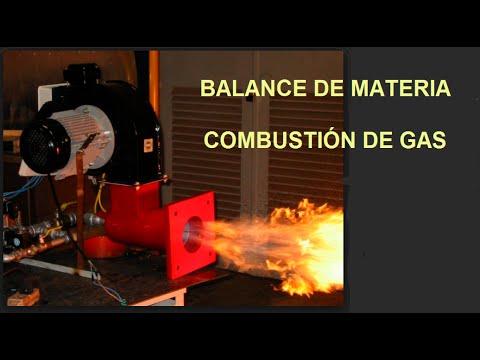 Balance de materia: combustión gas natural de Argelia