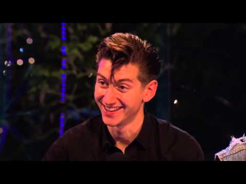 Arctic Monkeys - interview Glastonbury Festival UK  28th June 2013