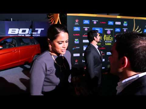 Sameera Reddy ~ 15th Annual IIFA Awards Green Carpet Interviews