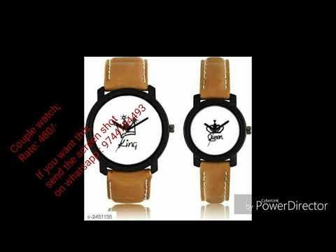Professional Stylish Analog Couple Watches#watches#online Shopping