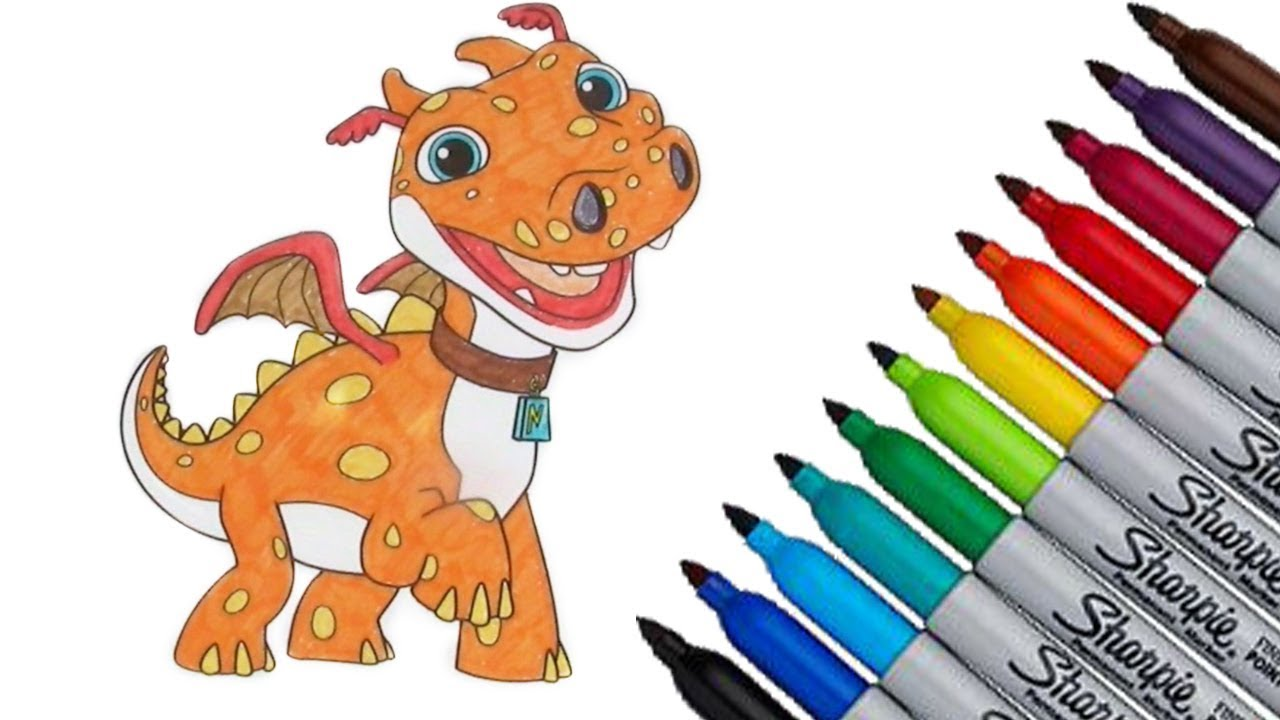 Wallykazam Norville Coloring page 2017 New HD Video for Kids - YouTube