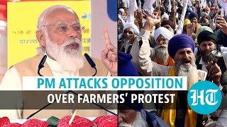'Same people who cheated farmers…': PM Modi blames opposition for protests