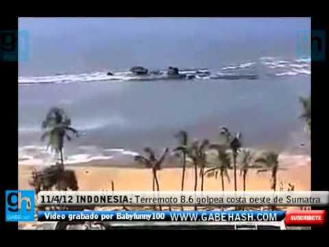 TERREMOTO 8.6 GOLPEA LA COSTA OESTE DE SUMATRA, INDONESIA 11 ABRIL 2012 (32 MUERTOS 112 HERIDOS)