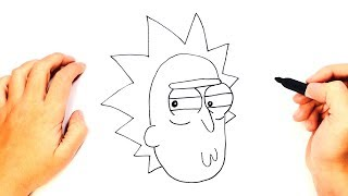 How to draw Rick Sanchez from Rick and Morty