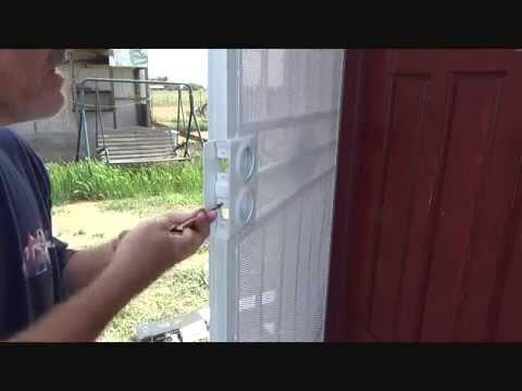 Installing Door Knobs On A Security Screen Door...Part 1   YouTube