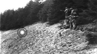 United States Infantry moves up from Osterode to St. Andreasberg in Germany, duri...HD Stock Footage