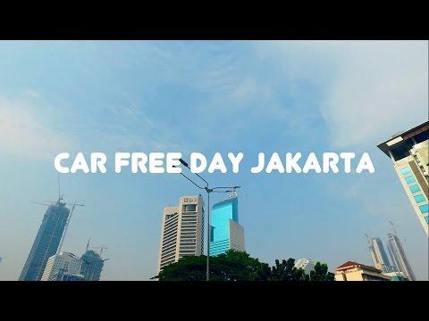 Car Free Day Jalan Sudirman Jakarta City - DJI Osmo Video Footage