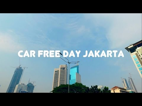 Car Free Day Jalan Sudirman Jakarta City - DJI Osmo Video Footage