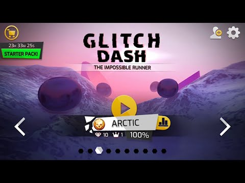 Glitch Dash: Level - ARCTIC (Perfect Run,100%,All Diamonds,Crowns) IOS Gameplay Walkthrough (HD)