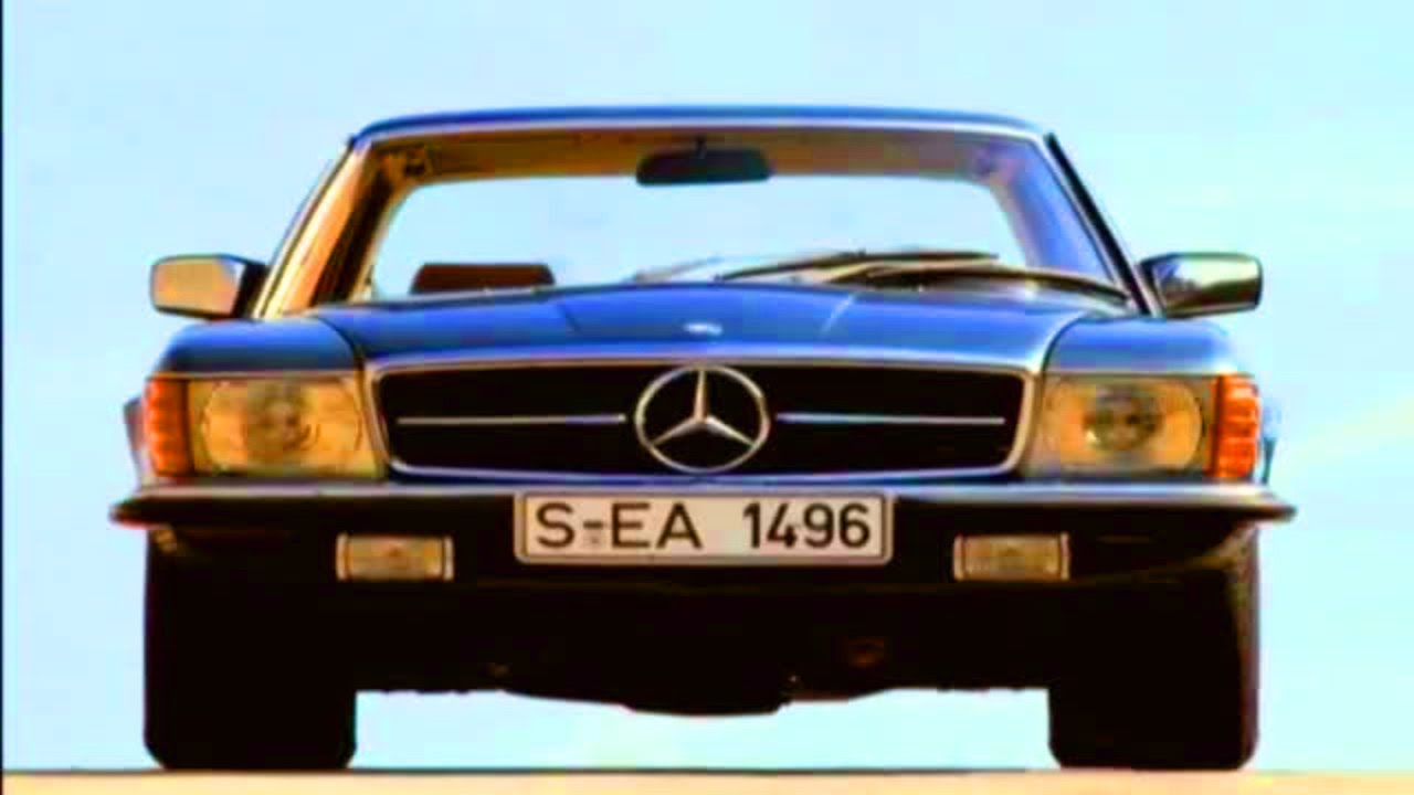 mercedes sl w107 video review youtube. Black Bedroom Furniture Sets. Home Design Ideas