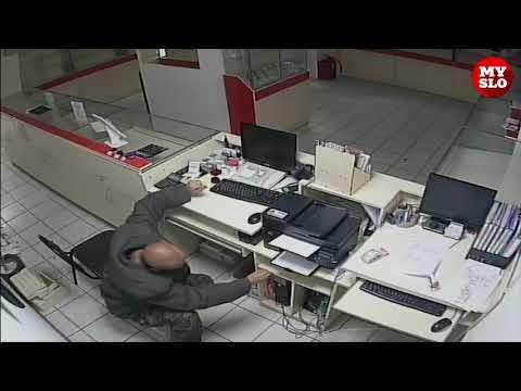 В Ефремове вор-неудачник в шлепках попал на видео