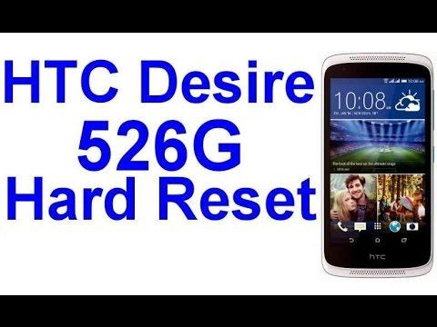 HTC Desire 526g hard reset
