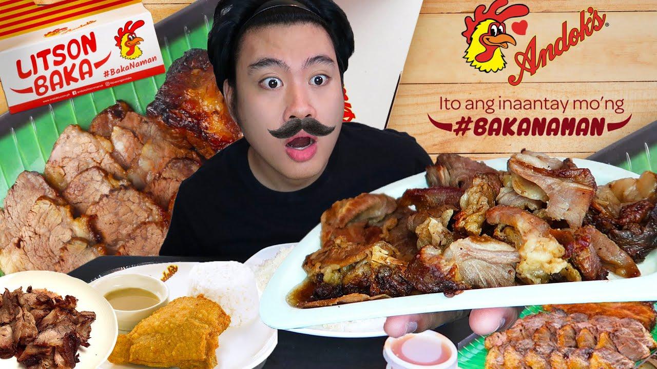 BAGONG LITSON BAKA NG ANDOK'S MUKBANG!! + DOKITO & IGADO