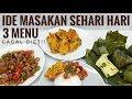 - IDE MASAKAN SEHARI HARI PART5 BIKIN GAGAL DIET !! oseng cumi asin , perkedel jagung , pepes tahu