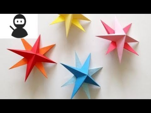 DIY Hanging Paper 3d Star Tutorial for Christmas, Birthday, Party Decorations New 2018