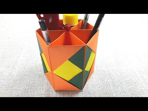 DIY | How to make Desk Organizer | Awesome Pen Holder Making Tutorials | Make Easy