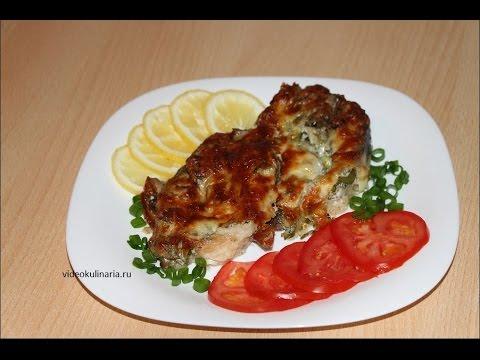 Рецепт-Белый амур запеченный в грибном соусе от videokulinaria.ru