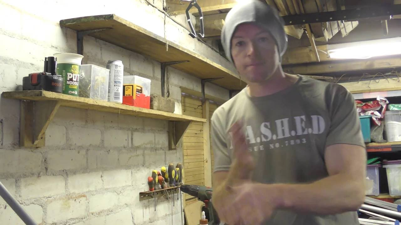 DIY shelves with homemade brackets - YouTube