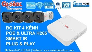 Bộ KIT Global IP POE 2.0M 1080P Full HD - Công Nghệ Tân Tiến Nhất Hiện Nay
