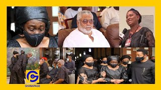 Rawlings wife criɛs uncontrollably  Woman claims to be Rawlings' daughter, shows up at catholic mass