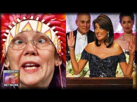 BOOM! After Elizabeth Warren Fails DNA Test Nikki Haley BRUTALLY ROASTS Her In Front Of Hundreds
