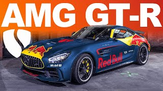 SALOMONDRIN REDBULL RACING MERCEDES AMG GT-R, AVENTADOR COMES IN FOR HELP.