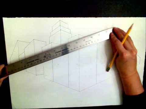 6th Grade Two-Point Perspective: Adding A Circular Roof Line