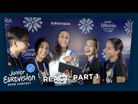 Junior Eurovision stars react to Eurovision Song Contest, Part 1