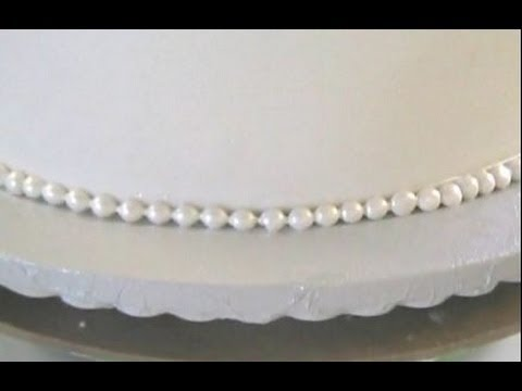 How To Make Fondant Pearls Or Beads For Cakes Youtube