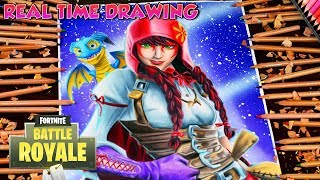 Drawing Fortnite Battle Royale Fable Skin フォートナイト Step By Step Tutorial - Dibujando a Fabula