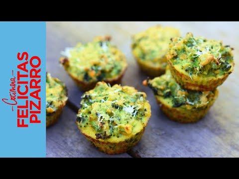 Muffins de Brócoli | Felicitas Pizarro