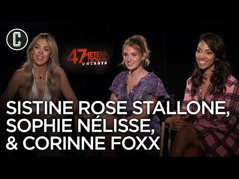 47 Meters Down Uncaged: Corinne Foxx, Sophie Nelisse & Sistine Rose Stallone Interview