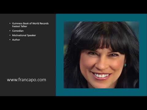 A Quick Look At Humor With  Fast Talker Fran Capo