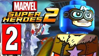 LEGO Marvel Super Heroes 2 Walkthrough Part 2 HELP IRON MAN FIND PARTS / BOSS THE PRESENCE