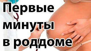 Роды в роддоме. Первые минуты в роддоме для беременной |