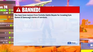 *WARNING* Fortnite is BANNING Some Galaxy Skin Accounts