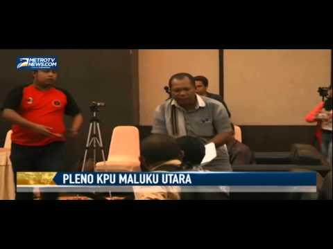 Rapat Pleno KPU Maluku Utara Ricuh