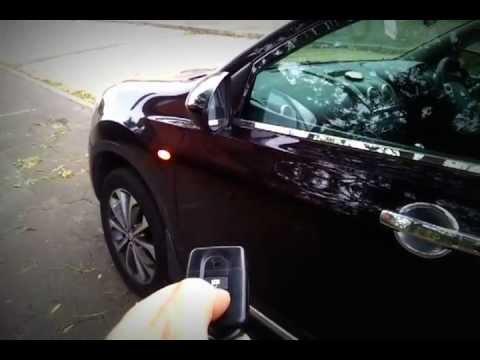 Qashqai auto folding wing mirror kit - YouTube
