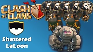 Clash Of Clans - Shattered LaLoon TH9 vs TH9 War Attack