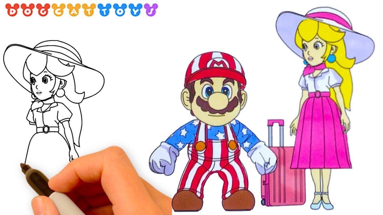 Speed Drawing Super Mario Odyssey Mario Princess Peach