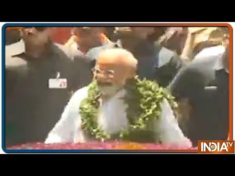 PM Modi के Nomination से पहले NDA के नेता Nitish kumar, Ramvilas Paswan पहुंचे कचहरी